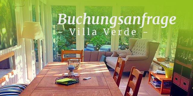 Buchungsanfrage Villa Verde